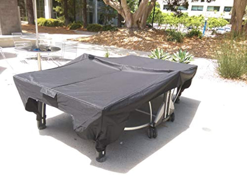 Inertia Table Ping Pong Table Cover for Indoor/Outdoor - UV Protected, Water Resistant, Windproof.