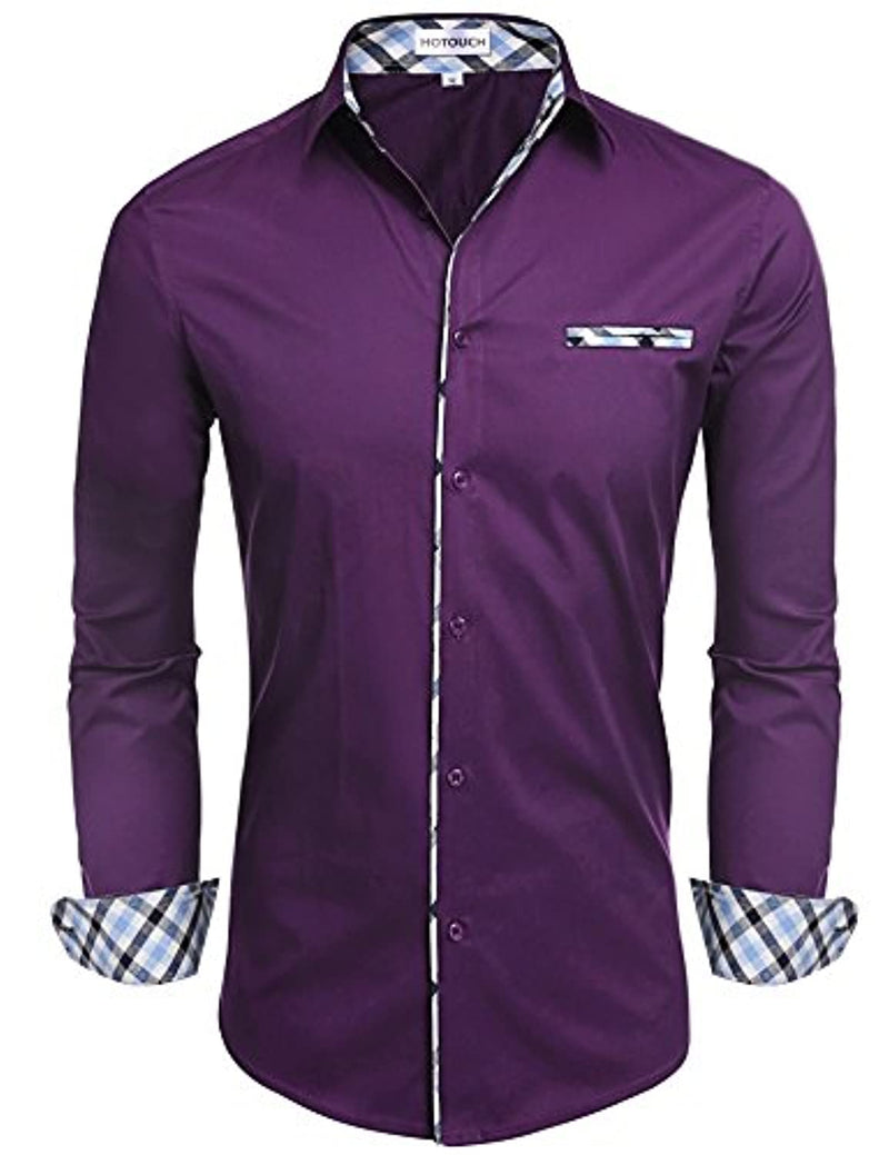 Hotouch Men's Fashion Button Up Slim Fit Shirt