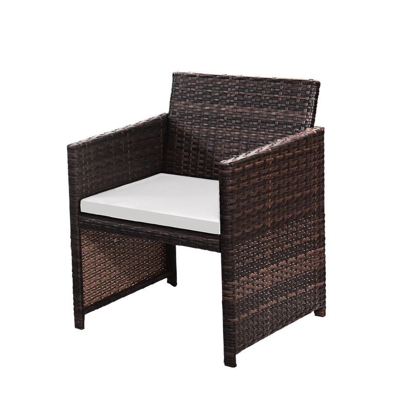 Gymax 4 PC Rattan Patio Furniture Set Garden Lawn Sofa