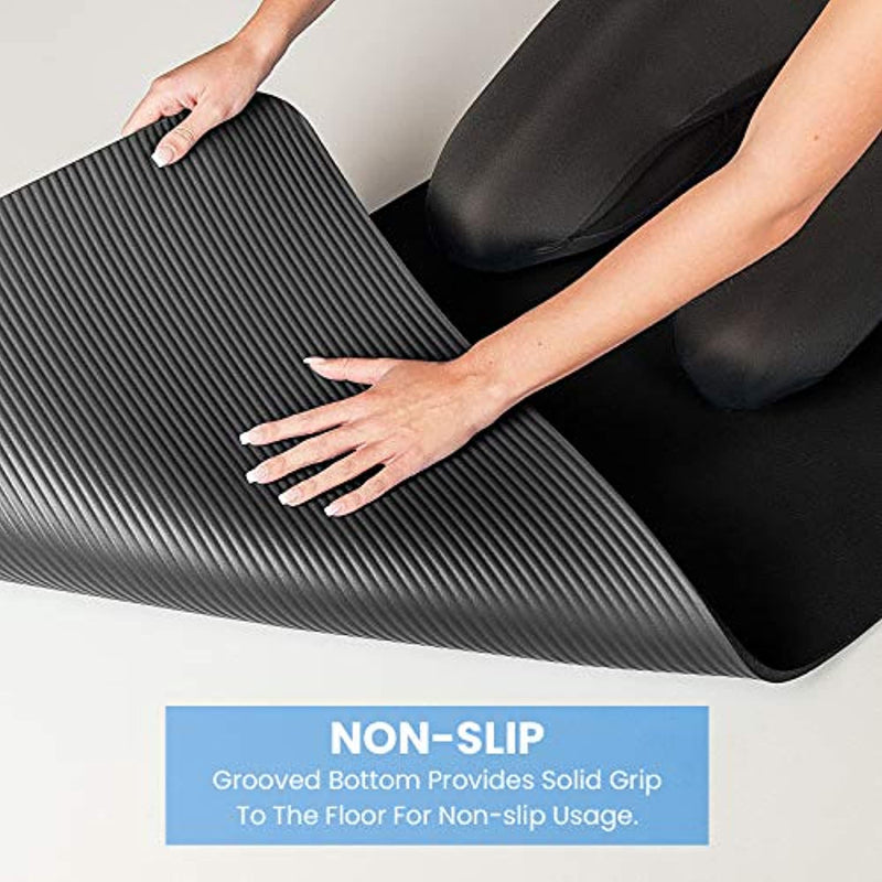 Proworks Yoga Mat, Eco Friendly NBR, Non-Slip Exercise Mat with Carry Strap for Yoga