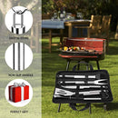 Piduules 5Pcs BBQ Grill Accessories Set, Multifunctional Stainless Steel Barbecue Tools Set