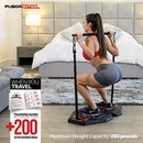 Fusion Motion Portable Gym with 8 Accessories Including Heavy Resistance Bands, Triceps Bar, Ab Roller Wheel, Pulleys and More - Full Body Workout Home Exercise Equipment to Build Muscle and Burn Fat