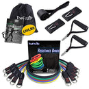 TheFitLife Exercise and Resistance Bands Set - Stackable up to 150 lbs Workout Tubes for Indoor and Outdoor Sports