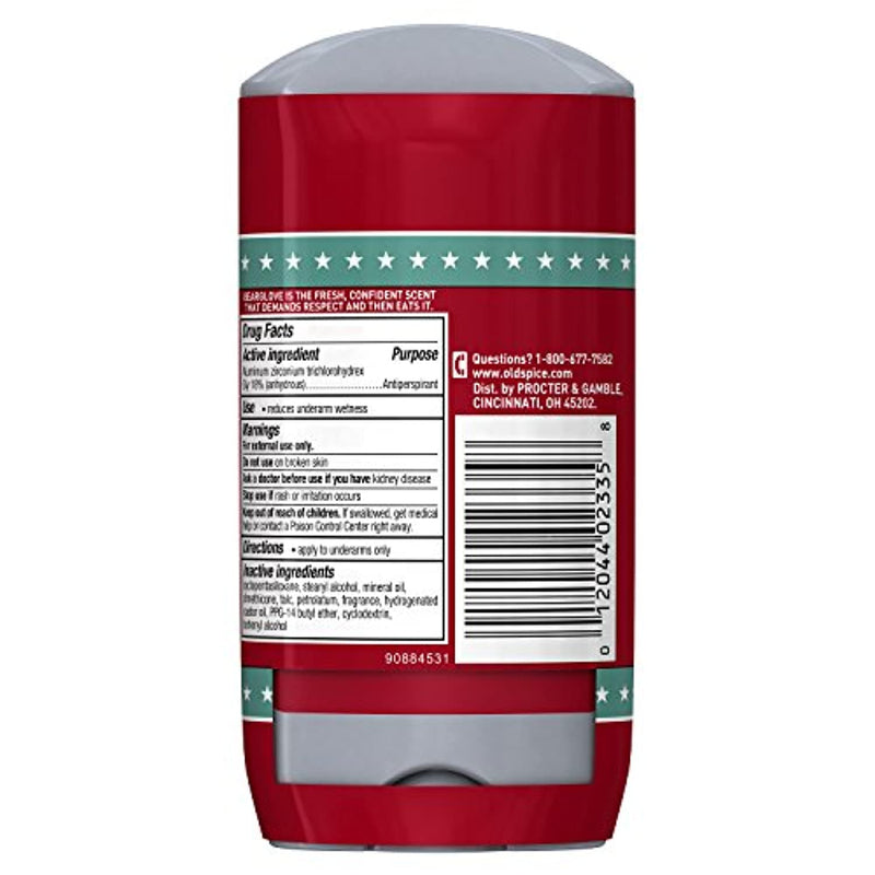 Old Spice Wild Collection Invisible Solid Antiperspirant and Deodorant, 2.6 Oz, 2 count