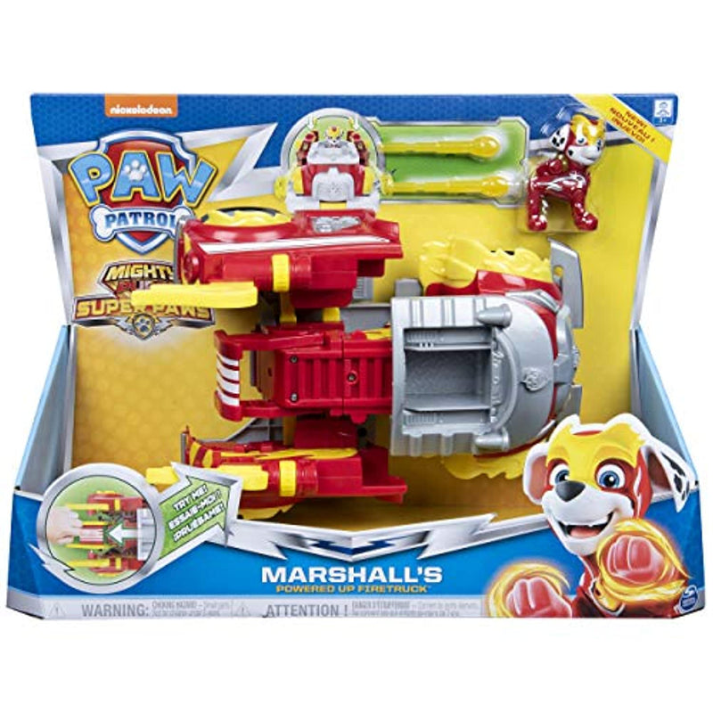 Paw Patrol 6053686 Mighty Pups Super PAWs Marshall's Powered Up Fire Engine Transforming Vehicle (2019)