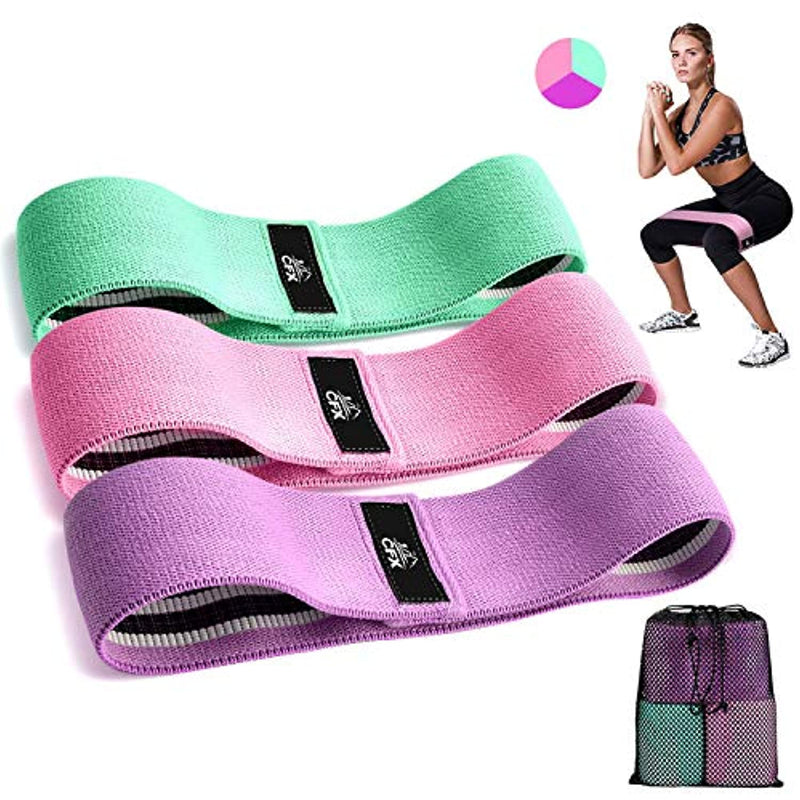 CFX Resistance Bands 3 Sets, Premium Exercise Loops with Non-Slip Design for Hips & Glutes for Women and Men