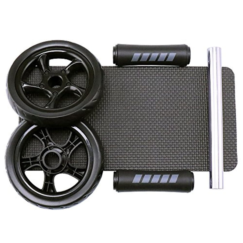 H&S Ab Abdominal Exercise Roller With Extra Thick Knee Pad Mat