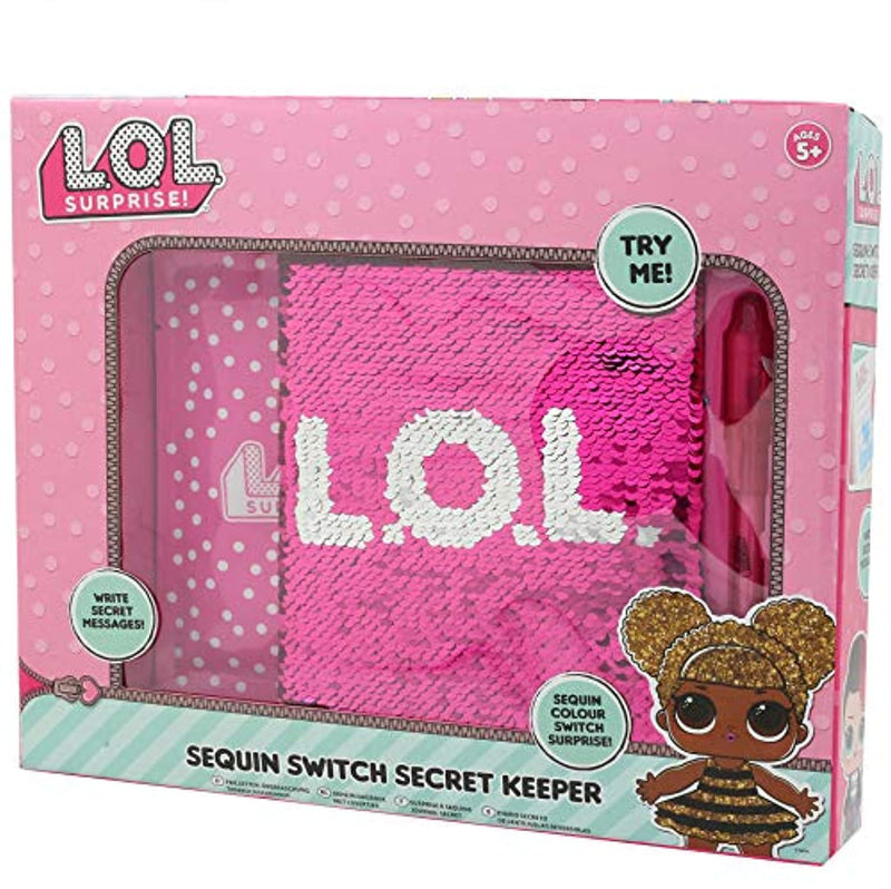 L.O.L. Surprise! Girls Secret Diary Sequin Pink Diary for Girl Children Secret Keeper Journal for Girl Lol Confetti Dolls