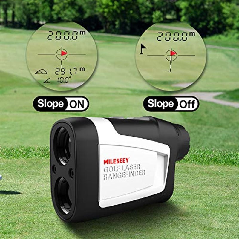 MiLESEEY Golf Rangefinder with Slope On/Off, 660 Yards Range finder with Flag-Lock and Vibration