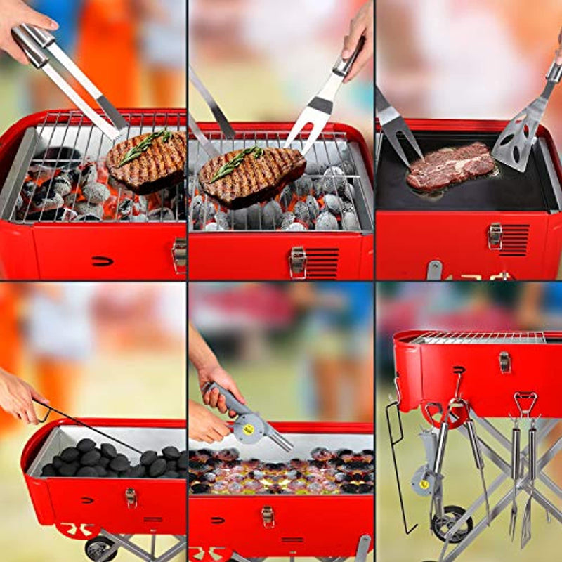 Starwide go Charcoal Grill in Backyard & Garden, 30s Quick Set-up Barbeque Grill