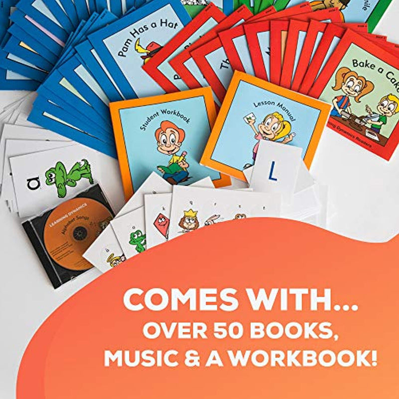 ReadiSystem for 4 to 7 Years Old Kindergartners | Build Confidence With Their Own Personal Library, Teaching Manual, Activities and Workbooks