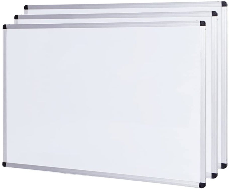 VIZ-PRO Dry Erase Board/Whiteboard, Non-Magnetic, 36 X 24 Inches, Wall Mounted Board for School Office and Home
