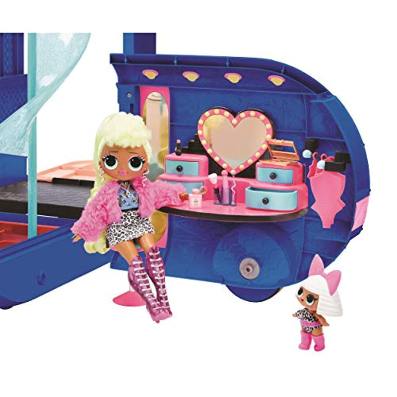 L.O.L. Surprise! 4-in-1 Glamper Fashion Camper - With 55+ Surprises, 10+ Hangout Areas & More - Electric Blue - O.M.G. Series