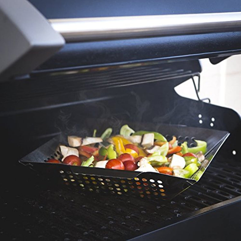 BBQ Masters Non-Stick Grill Basket - Grill Topper Barbecue Wok pan