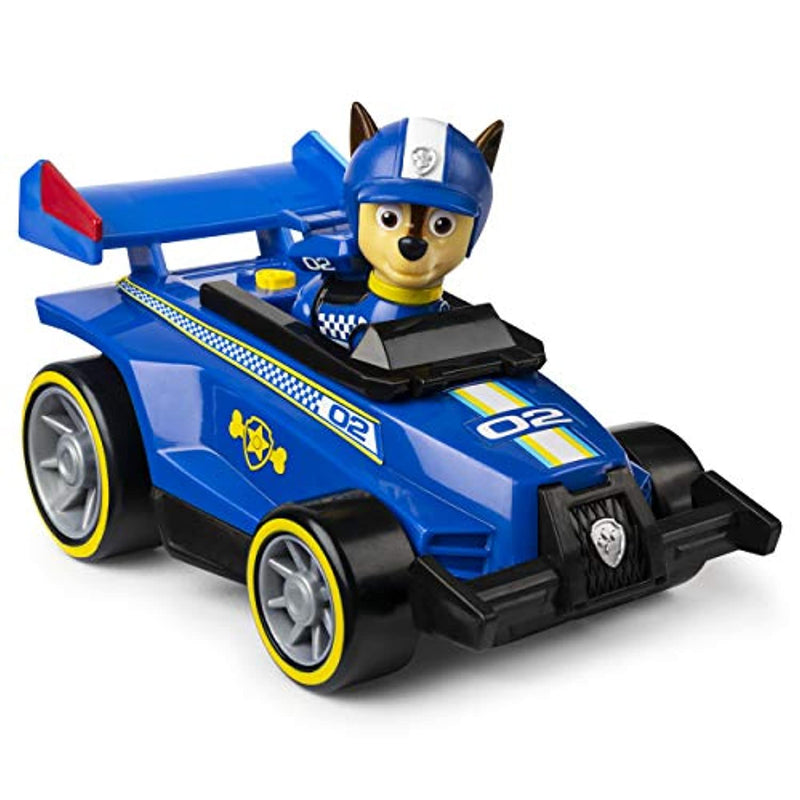 PAW PATROL 6058584 Ready, Race, Rescue Chase's Race & Go Deluxe Vehicle with Sounds, for Kids Aged 3 Years and Over, Multicoloured