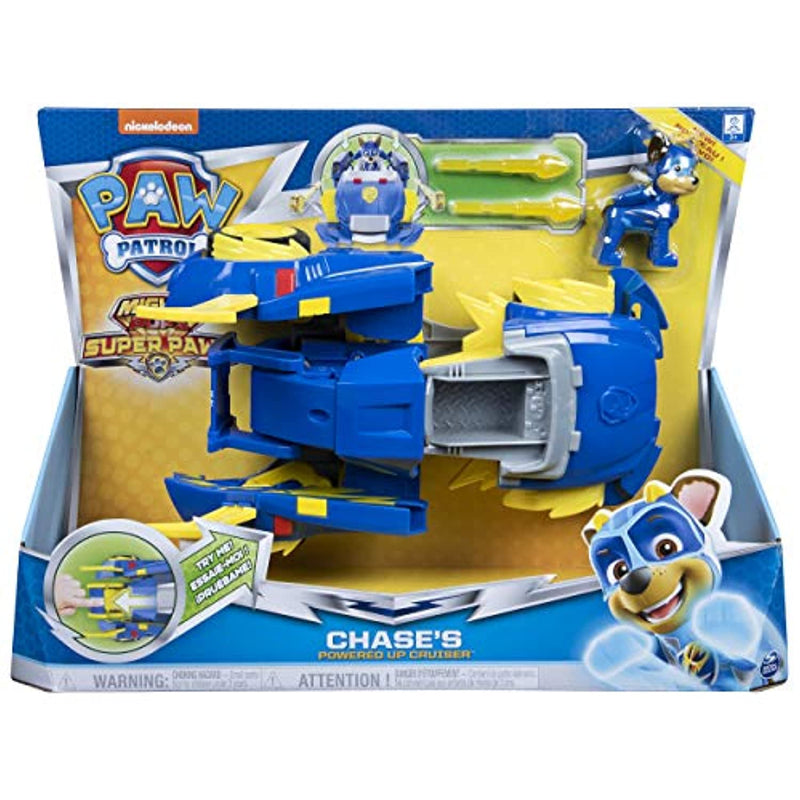 Paw Patrol 6053687 Mighty Pups Super PAWs Chase's Powered Up Cruiser Transforming Vehicle (2019)