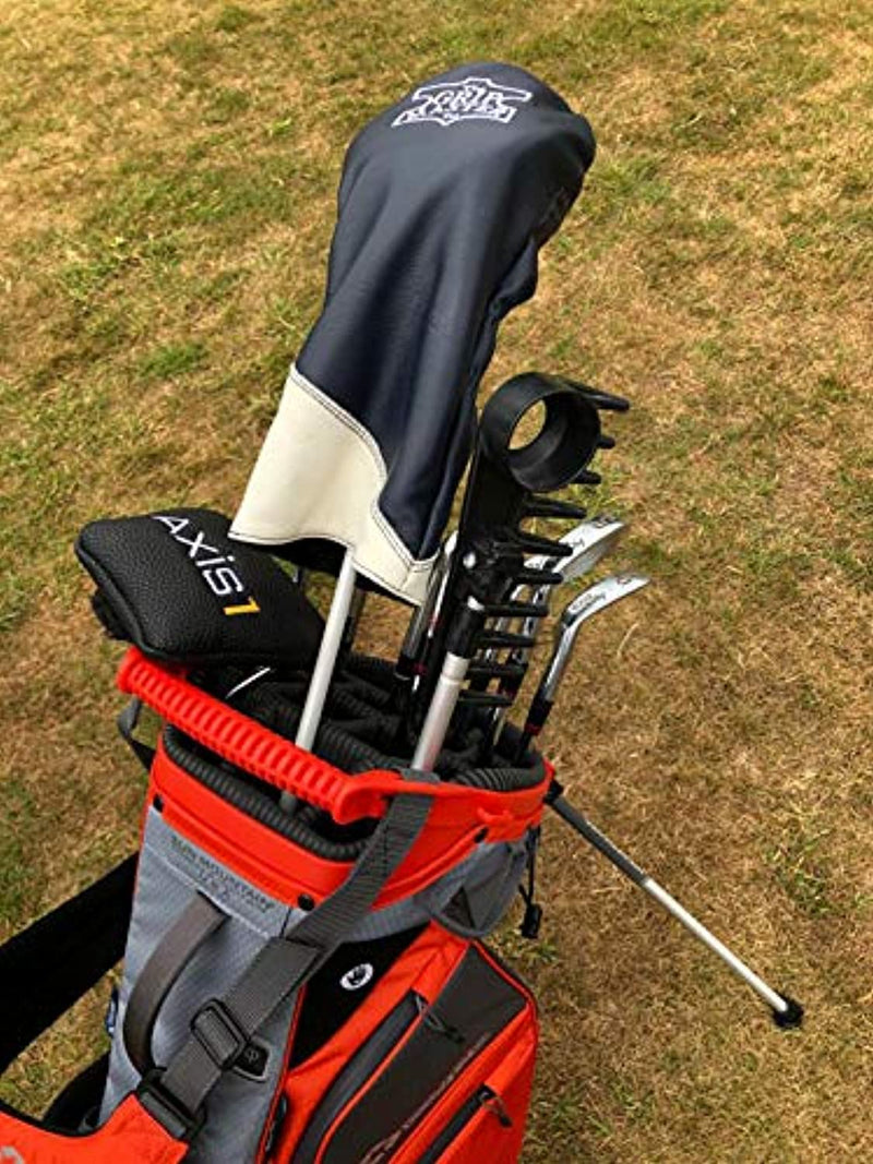 Brand Fusion Unisex's Golf Rake-With Ball Retriever, Silver/Black, One Size