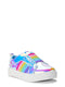 Wonder Nation Rainbow Twin Gore Court Sneaker (Toddler Girls)
