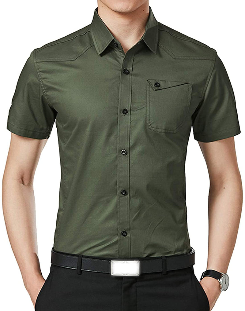 XTAPAN Men's Casual Slim Fit Shirt