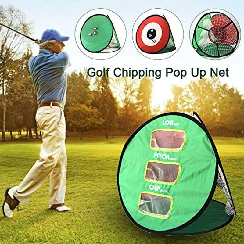 FINGER TEN Golf Chipping Nets Putting Collapsible with 12 Golf Foam Balls Set
