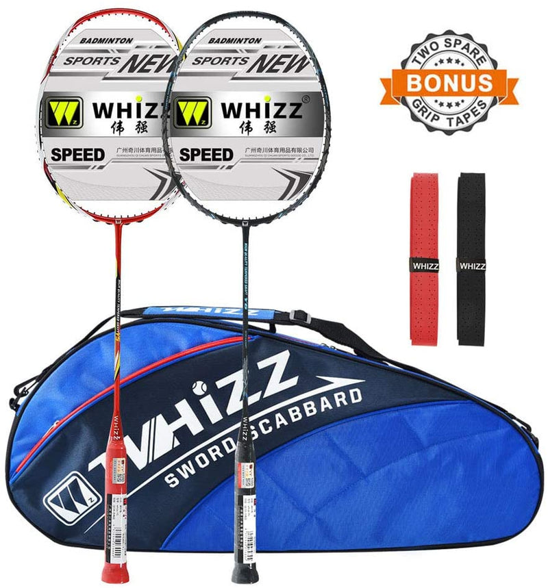 WHIZZ Anti Scratch Series Graphite Badminton Racket Set