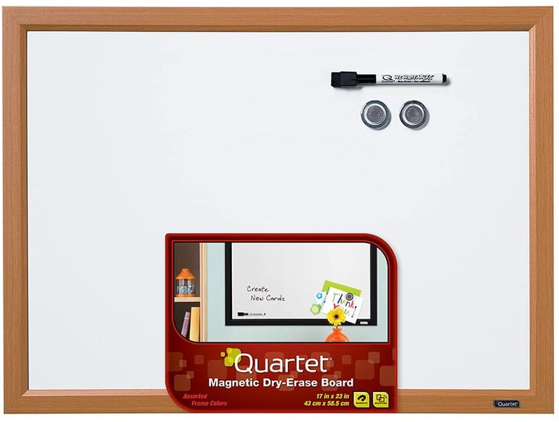 "Quartet Magnetic Whiteboard, 17"" x 23"" Small White Board for Wall, Dry Erase Board for Kids"