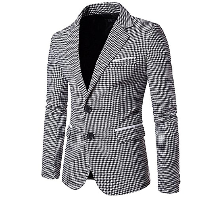 Mens Slim Fit Suit Single Breasted Blazer