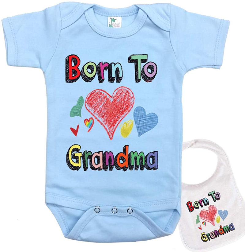 Born to Love Grandma Onesie Cute Baby Bodysuit