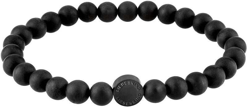 Liebeskind Berlin 6 mm Beads with Logo Tag, in Stainless Steel