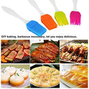 [4 Pack]/Deallink Baking Pastry and BBQ Brush Grill Pastry Brush with Silicone Brush Kitchen Accessories