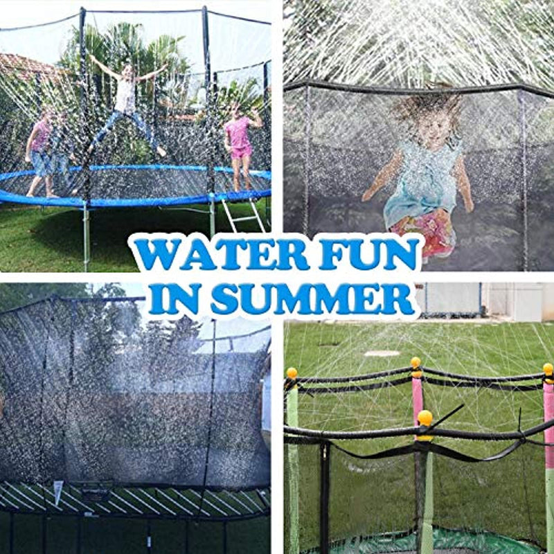 ARTBECK Trampoline Sprinkler, Outdoor Trampoline Water Play Sprinklers For Kids