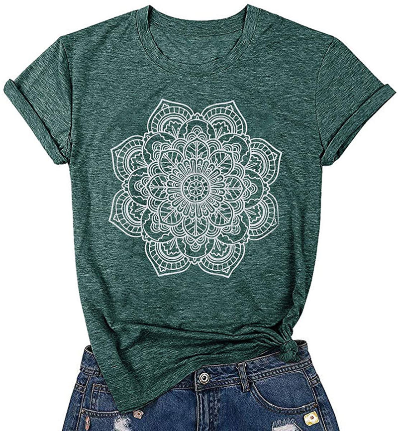 DORFALNE Wild and Free Graphic Tees Womens Short Sleeve