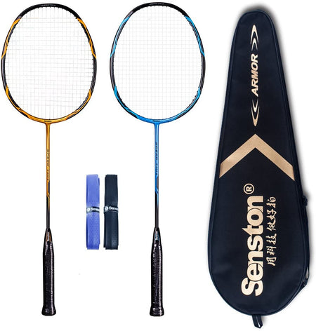 Senston - High Grade 2 Player Graphite Badminton Racket Set
