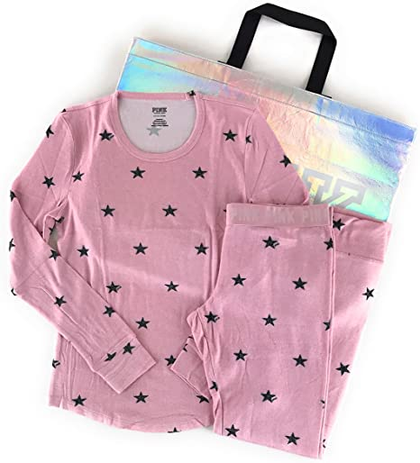 Victoria's Secret Pink Pajama Set with Reusable Tote Bag