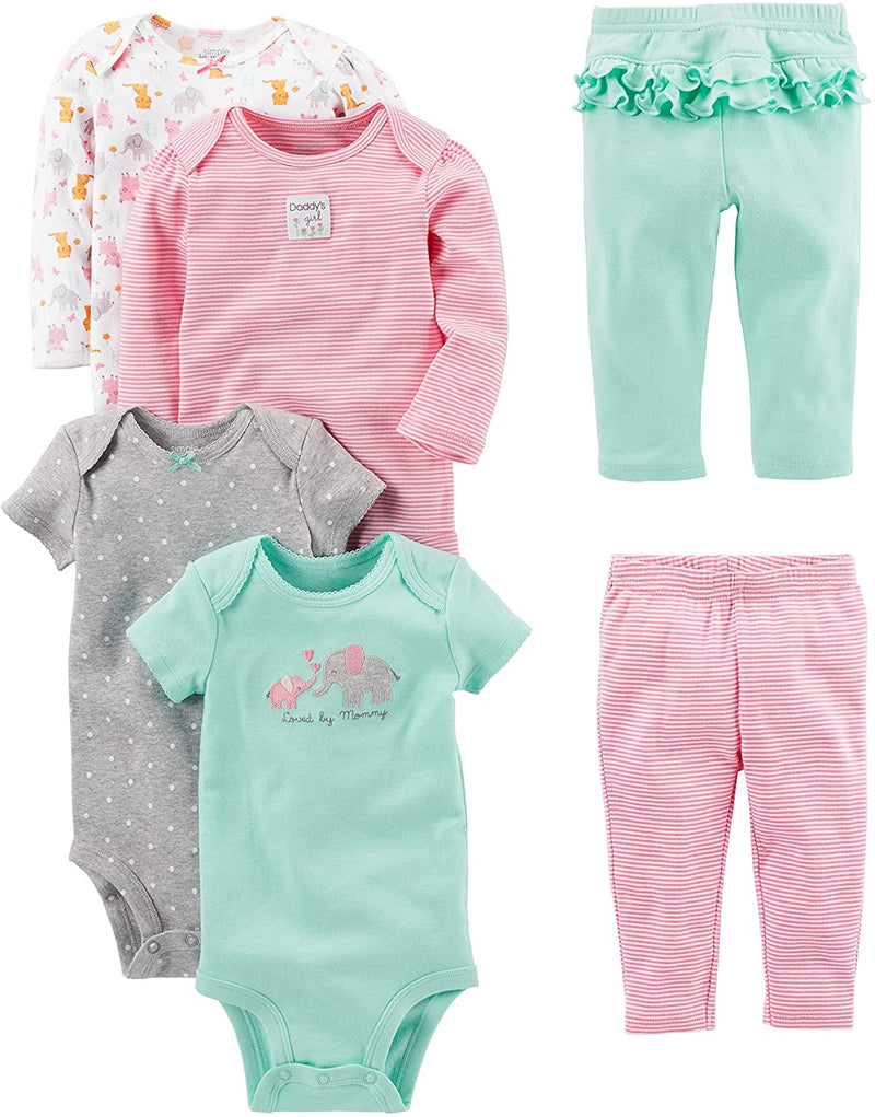 Simple Joys by Carter's Baby Girls' 6-Piece Bodysuits