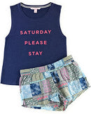 Victoria's Secret Mayfair Graphic Tank and Shorts Pajama Set