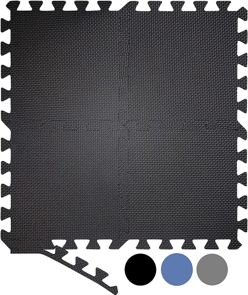JIGMATS Interlocking Foam Floor Mats 20 Piece Large Gym Mat Floor Protector 30 x 30 x 1 Cm