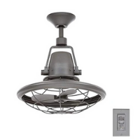 Bentley Indoor/Covered Outdoor Natural Iron Oscillating Ceiling Fan with Wall Control