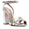 Tabitha Simmons 'Toni' Block Heel Sandal w/Multi-Color Metallic Cross Over Front Straps