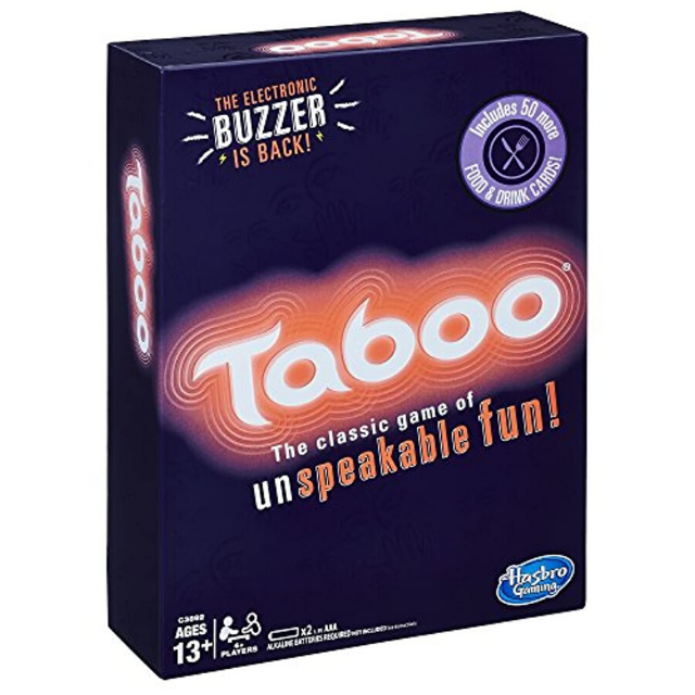 Hasbro Gaming Taboo Party Board Game With Buzzer