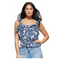 Sofia Jeans by Sofia Vergara Printed Sleeveless Flutter Top, Women's