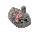 Infant Girls Plush Gray Bunny Rabbit Baby Slippers Prewalk House Shoes