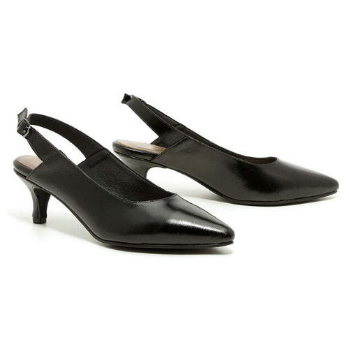B-Unique Pointy-Front Clara Model Sling-Back Shoes for Women