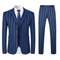 Men's 3 Piece Formal Pinstripe Slim Fit Suit