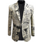 Men's Slim Fit Suit Jacket Casual Print Blazer