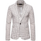 Mens Plaids Suit Casual Floral Blazer