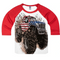 Shirts That Go Little Boys' Big USA Flag Monster Truck Raglan T-Shirt