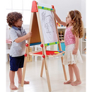 Award Winning Shape All-in-One Wooden Kid's Art Easel with Paper Roll and Accessories