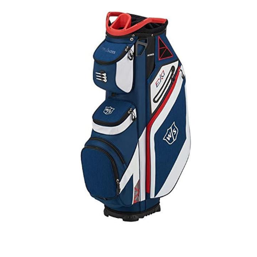 Wilson Prostaff SGI Complete 12 Piece Golf Club Graphite Set & New EXO Blue/Red/White 2019 Cart Bag New