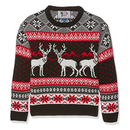 British Christmas Jumpers Boy's Triple Deer Jumper